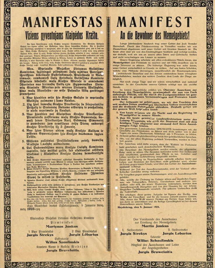 Manifest Supreme Committee Salvation Lithuania Minor Dateimanifest