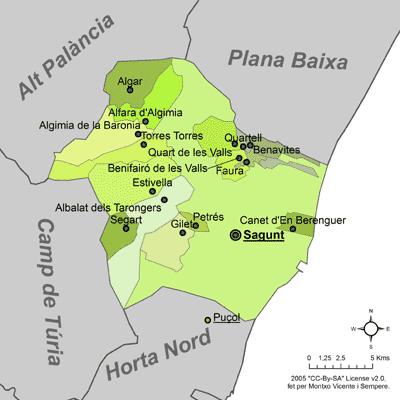 Mapa Canet De Berenguer.File Mapa Del Camp De Morvedre Png Wikipedia