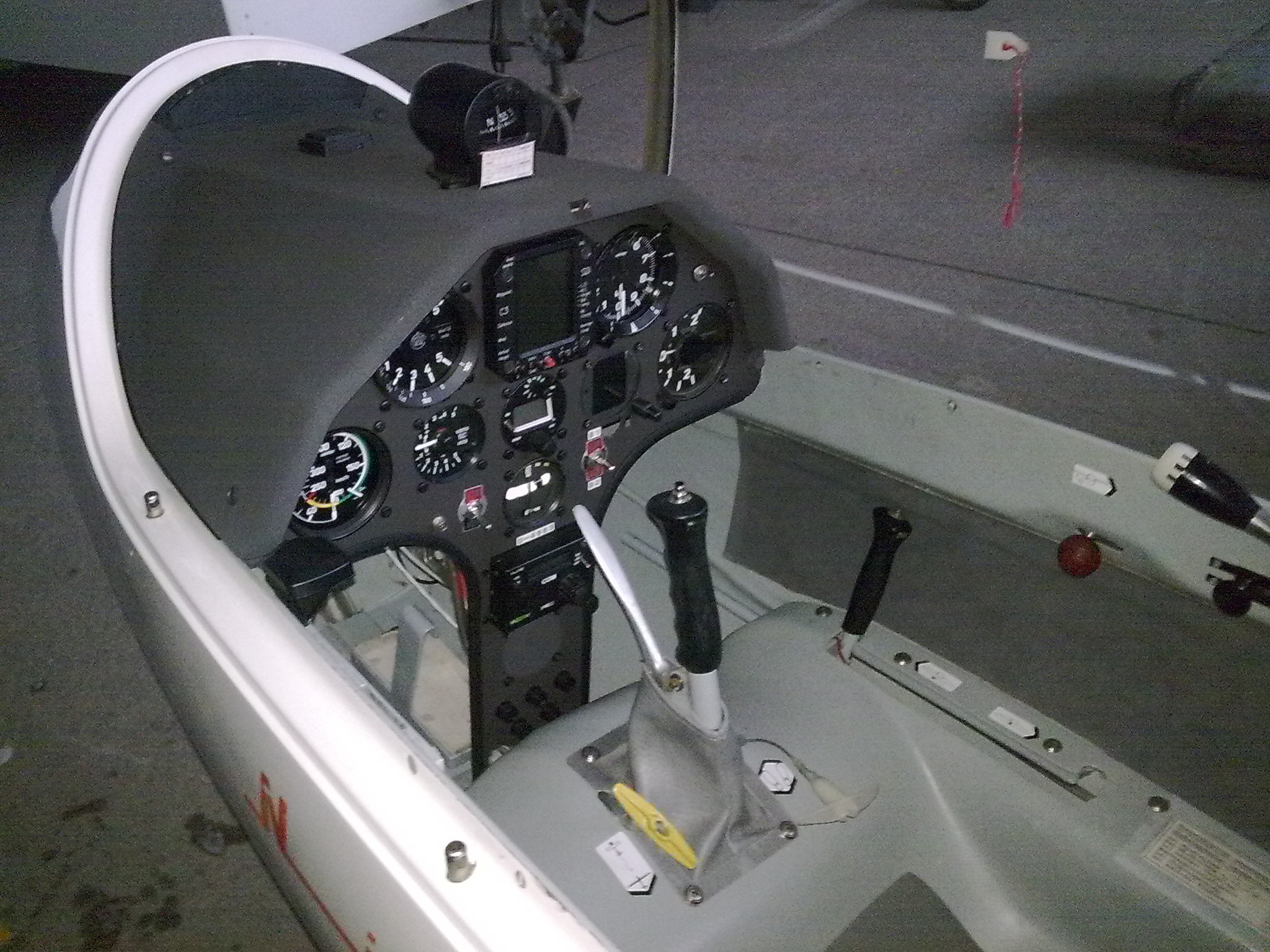 This is the cockpit of the upgraded B1B Bone bomber