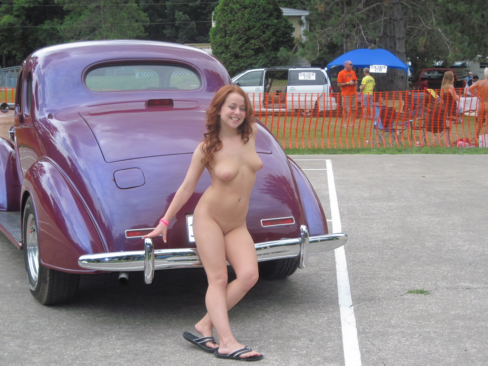 hot naked car models