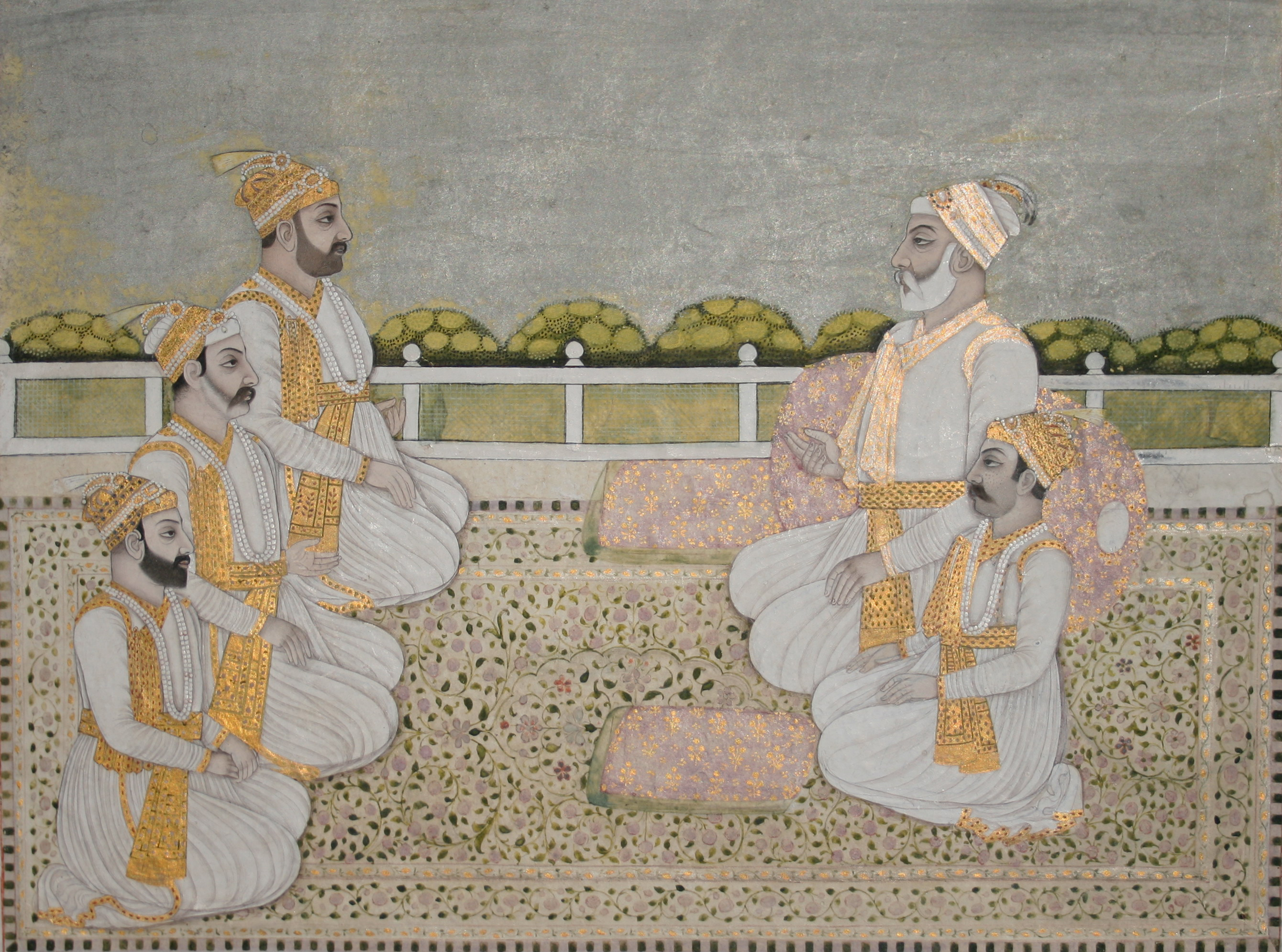 Miniature painting Nawab Aliverdi Khan with his grandson Siraj ud-Daulah