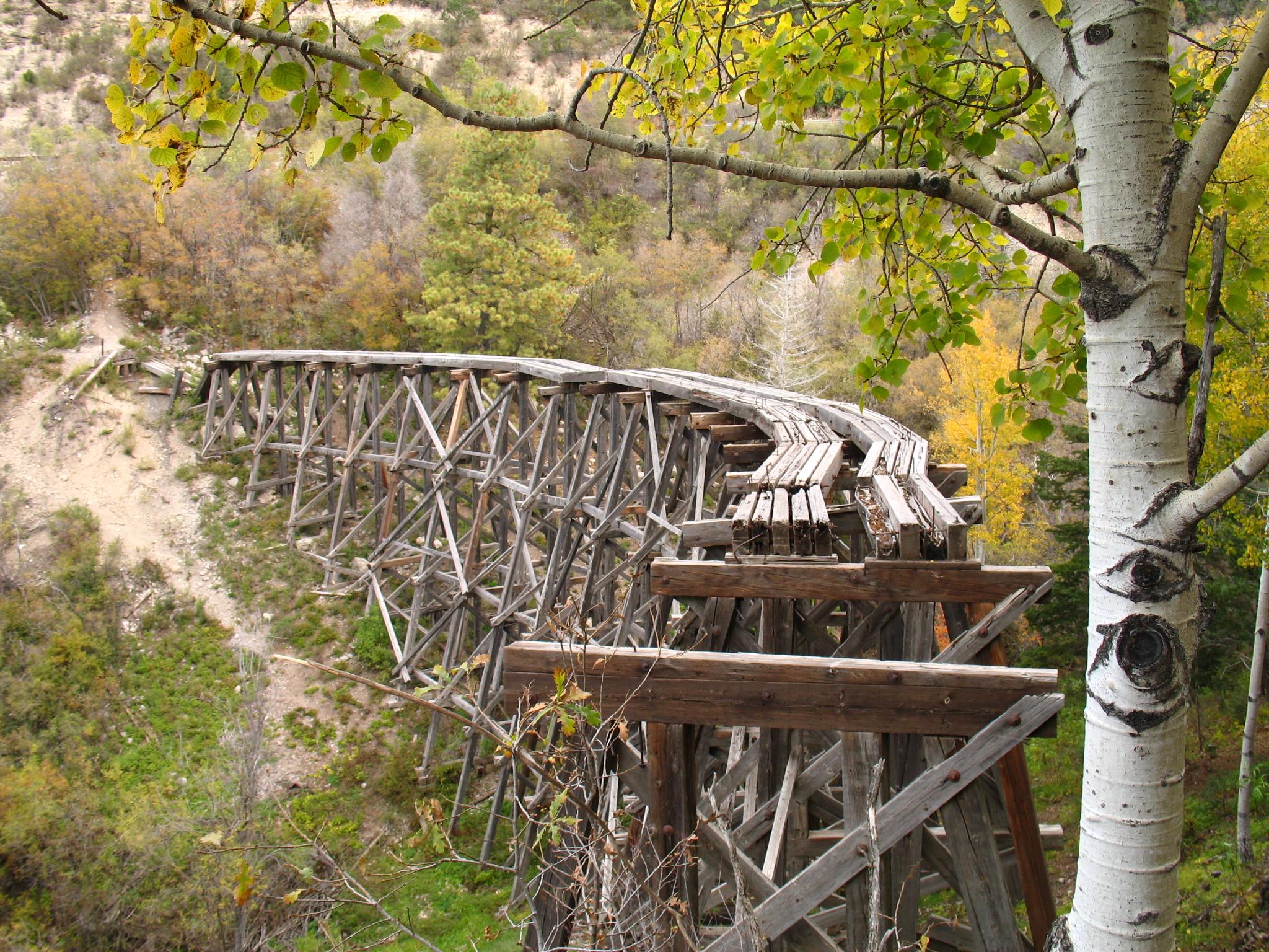 File Near Cloudcroft Mt Mexican Canyon Railroad Trestle