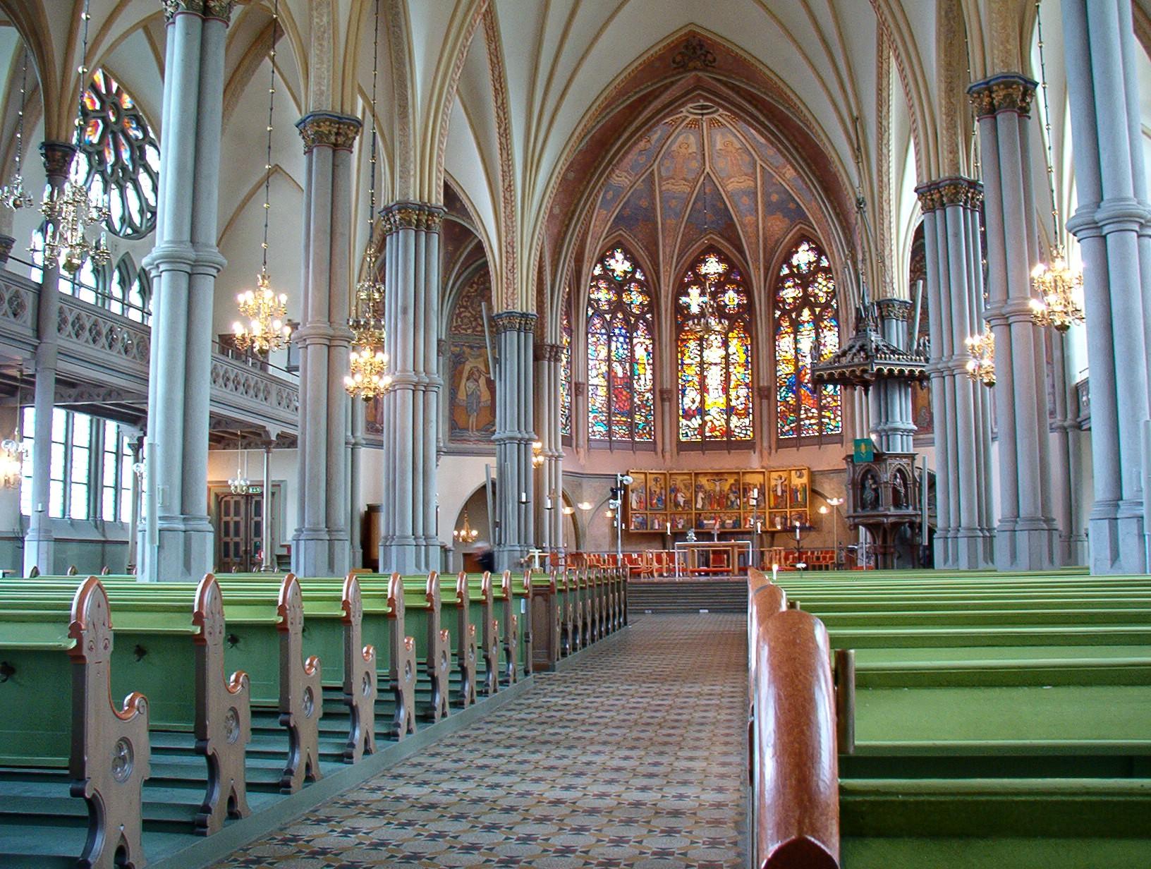 Bild av Oscar Fredriks kyrka