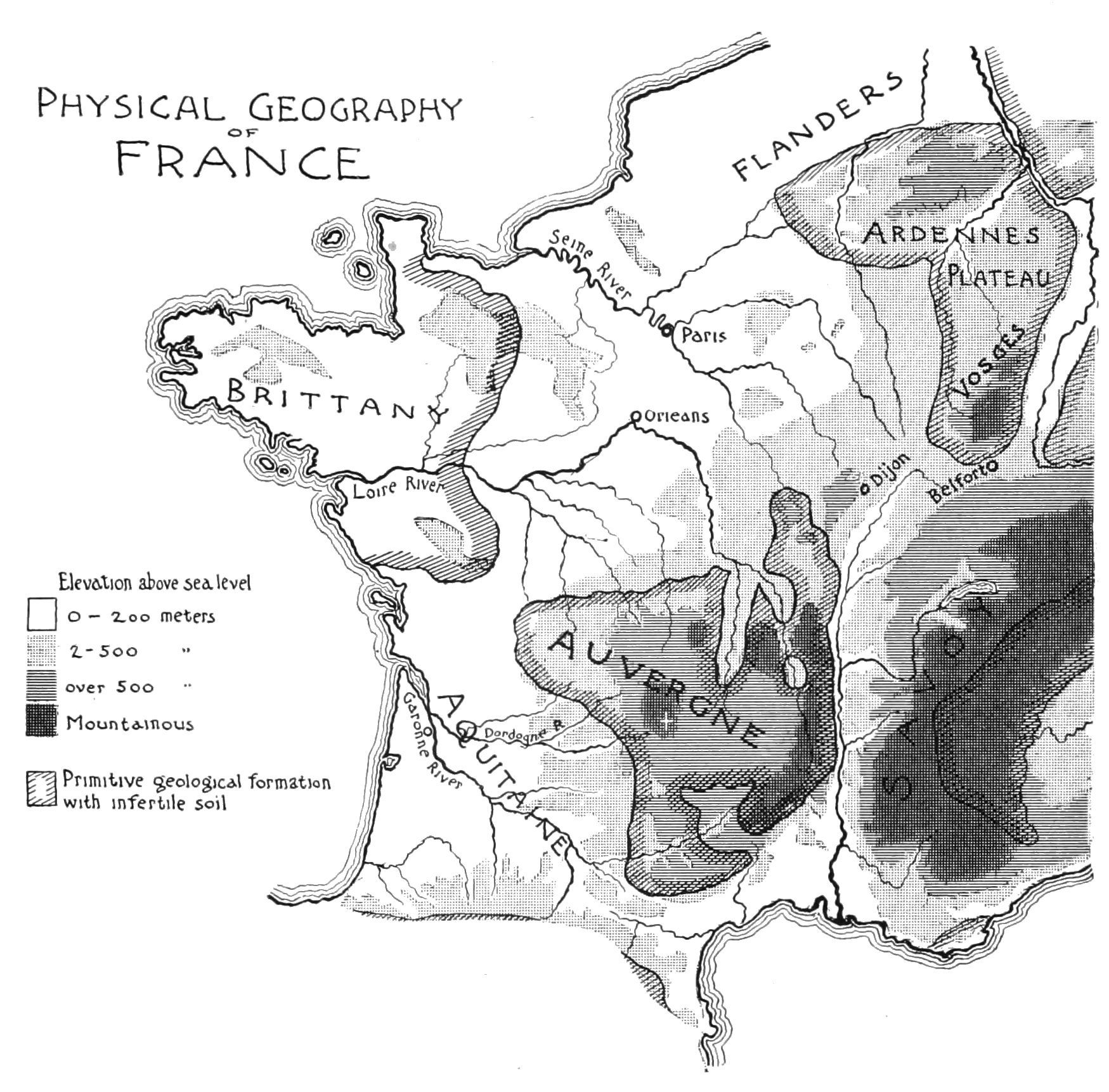 PSM V51 D446 Physical geography of france.jpg