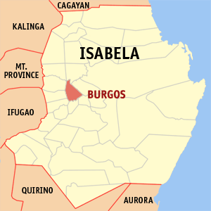 Mapa na Isabela ya nanengneng so location na Burgos