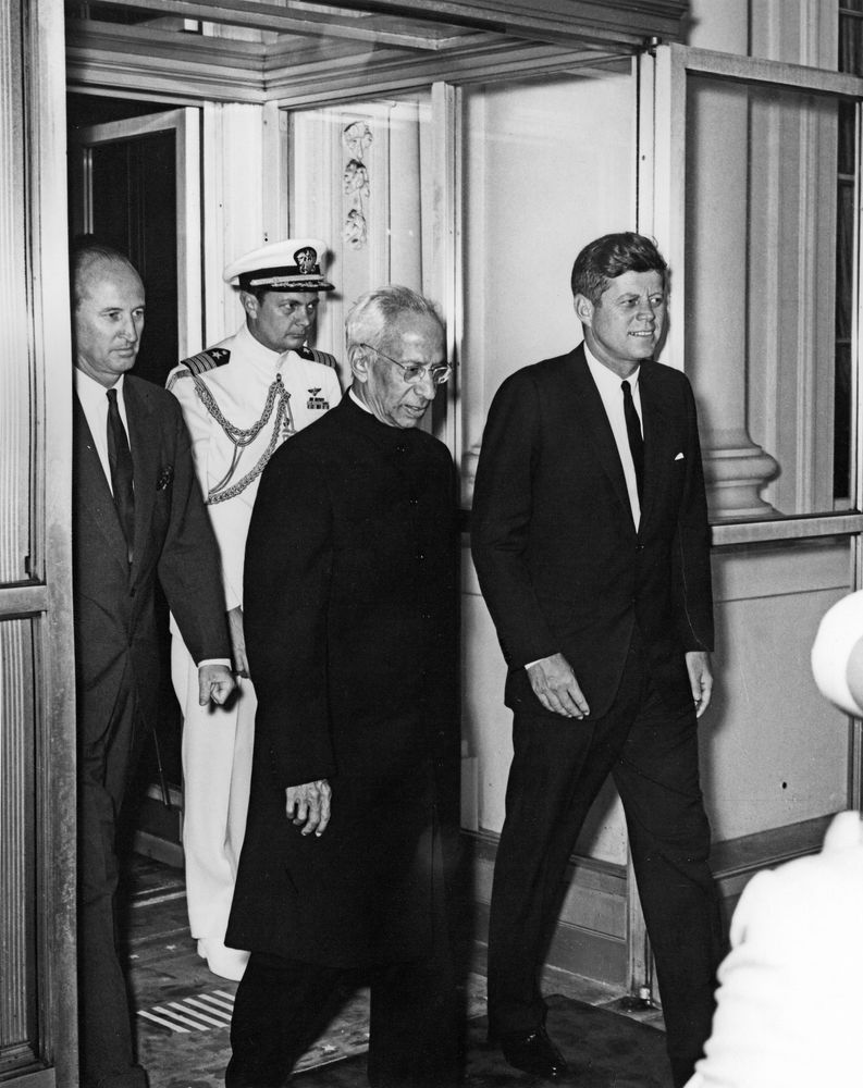 President John F. Kennedy with President of India, Dr Sarvepalli Radhakrishnan