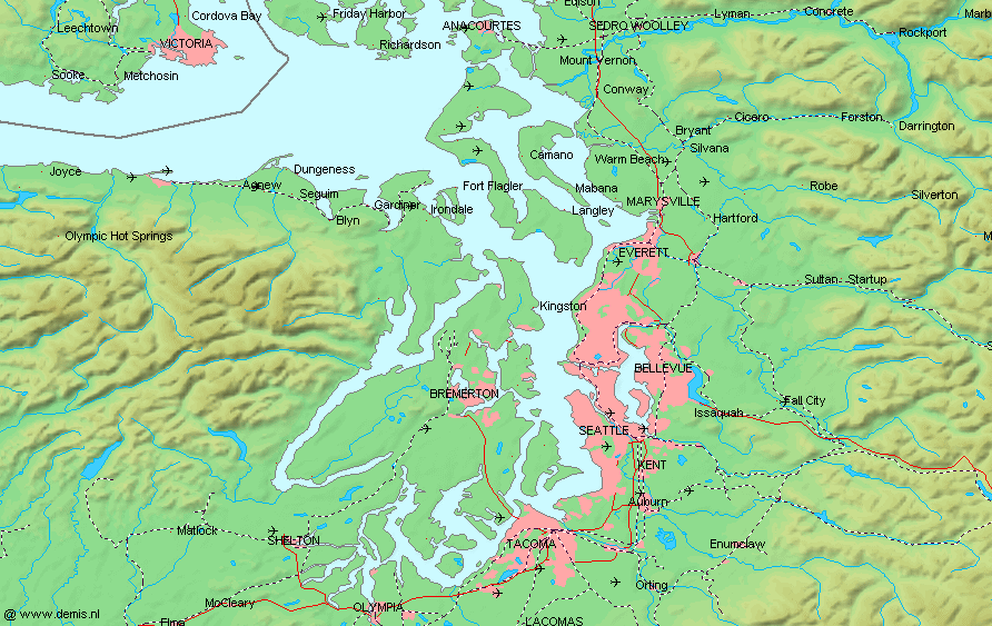 FilePuget Sound Mappng Wikimedia Commons - Us map puget sound