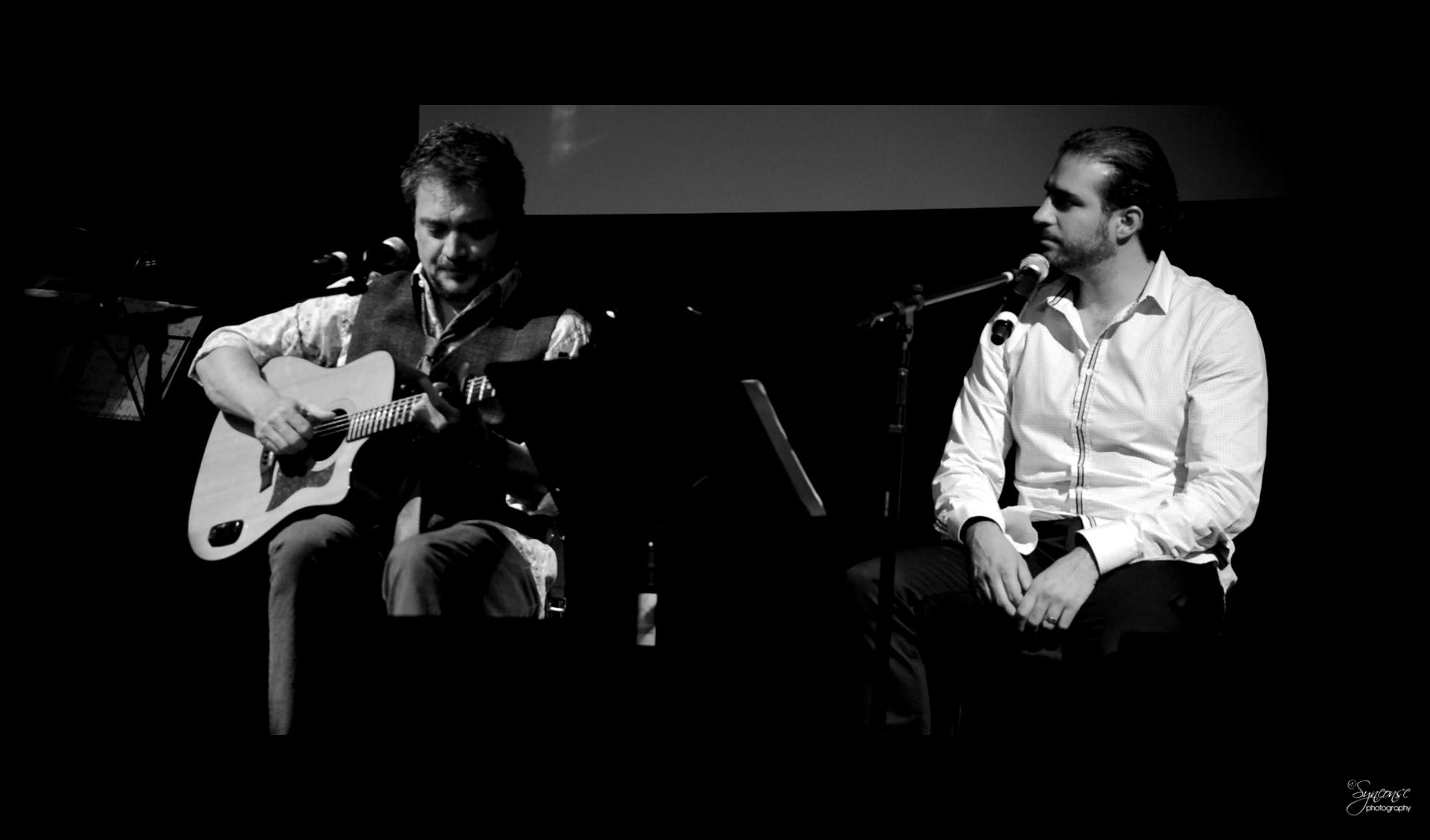 Raúl Ornelas y Paco Álvarez en la presentación del LCD Manual para olvidados