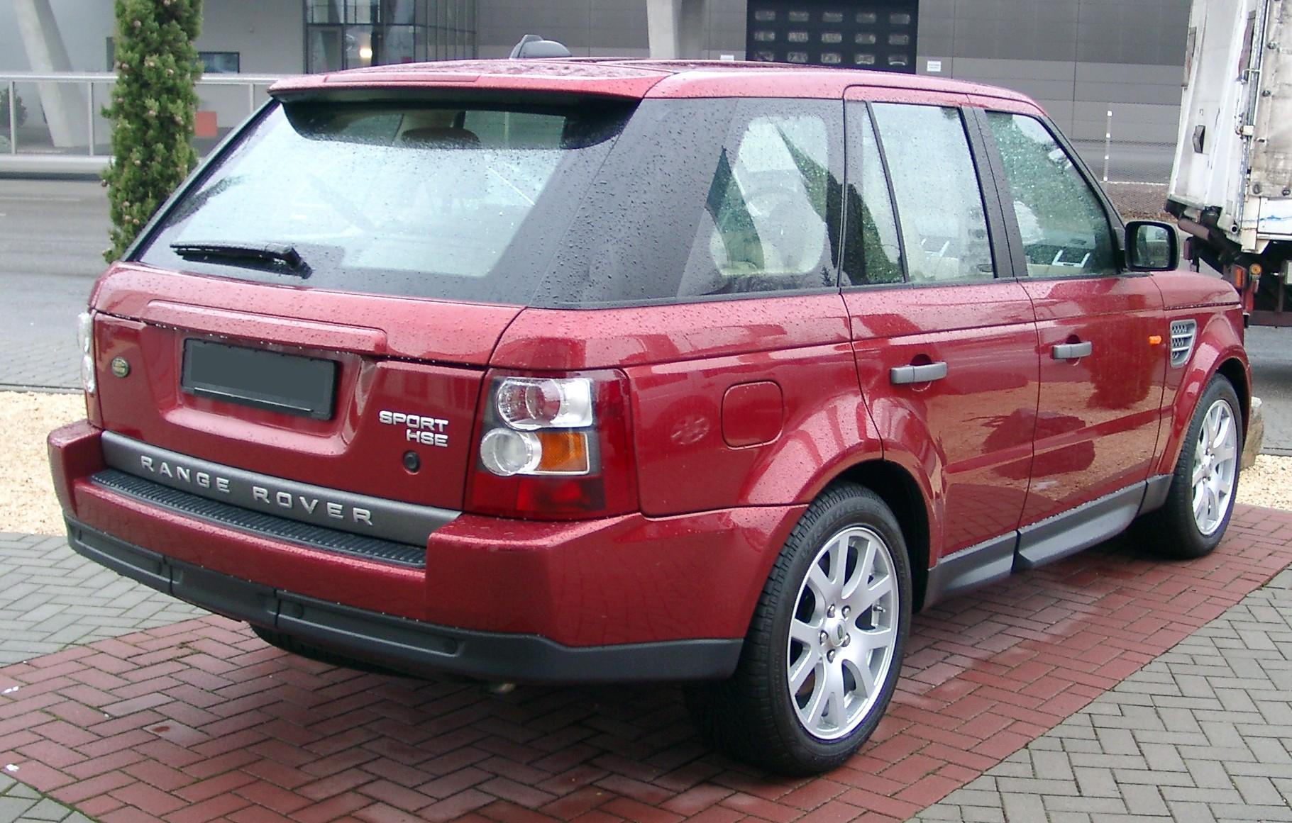 File Range Rover Sport Hse Rear 20071231 Jpg Wikimedia