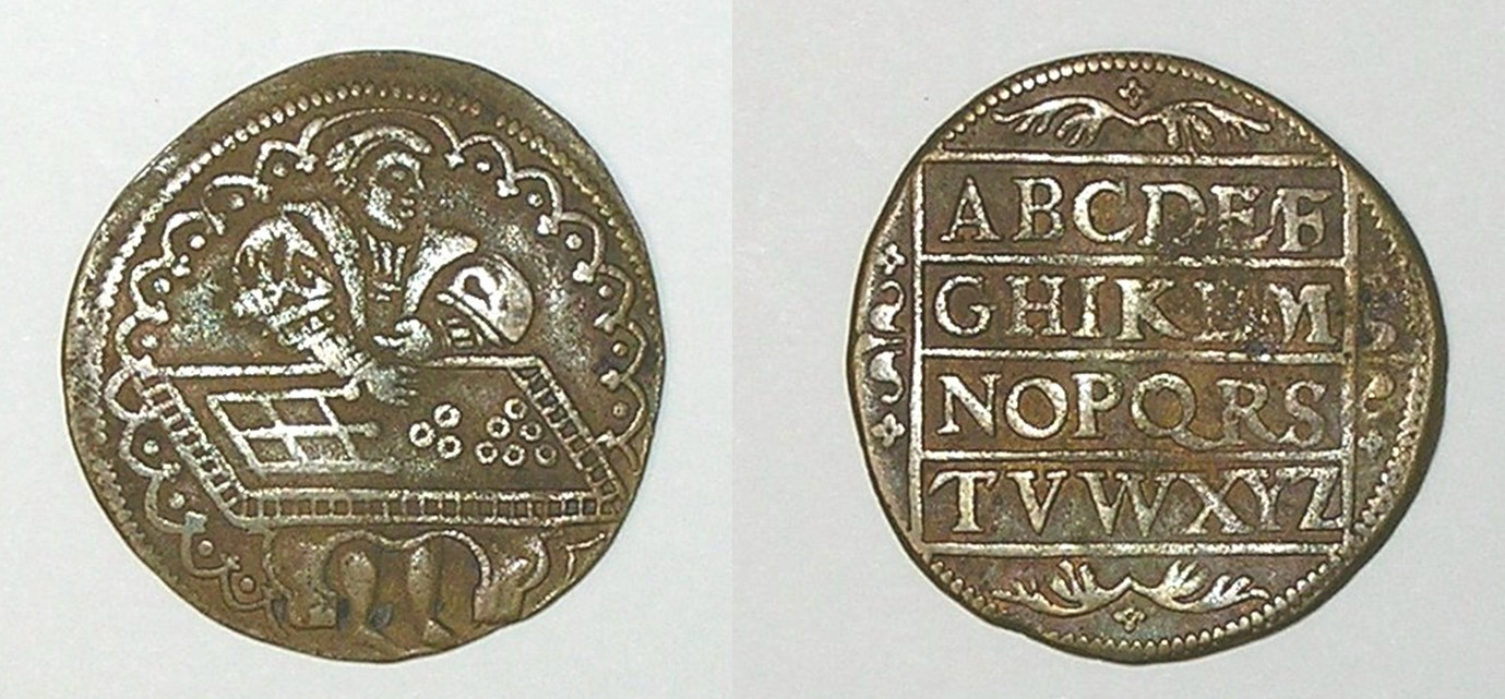 Jetón de Felipe II. Oficina de Finanzas Rekenaar_1553