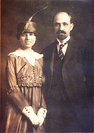 Retrato de boda de Juan Ramón Jiménez y Zenobia Camprubí (2 de marzo de 1916, Nueva York).