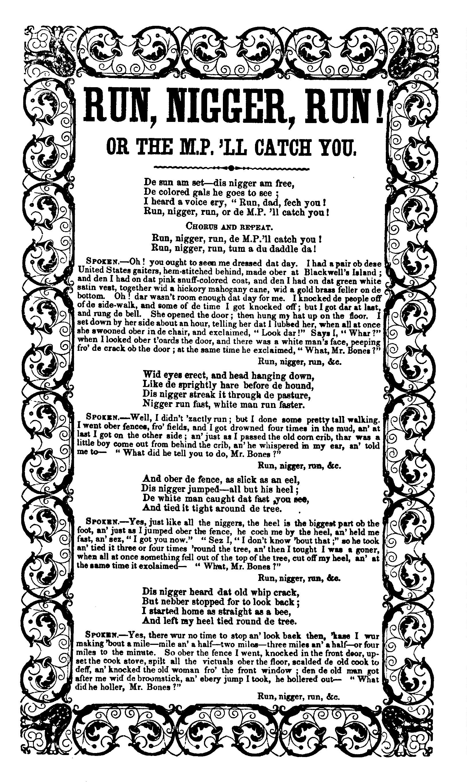 photograph relating to Black National Anthem Lyrics Printable titled Operate, Nigger, Function - Wikipedia