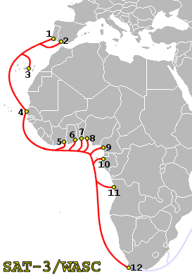 SAT-3 WASC route