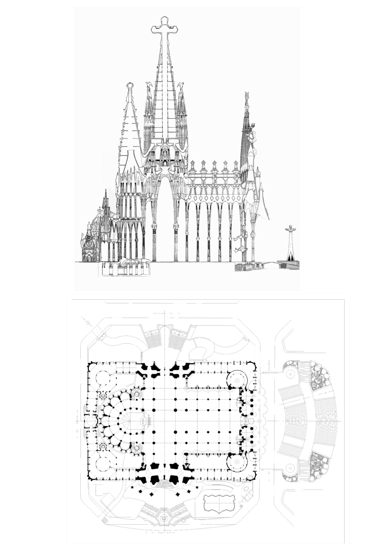 Floor Plan Blueprint File Sagrada Fam 237 Lia Planta I Al 231 At Jpg Wikimedia Commons