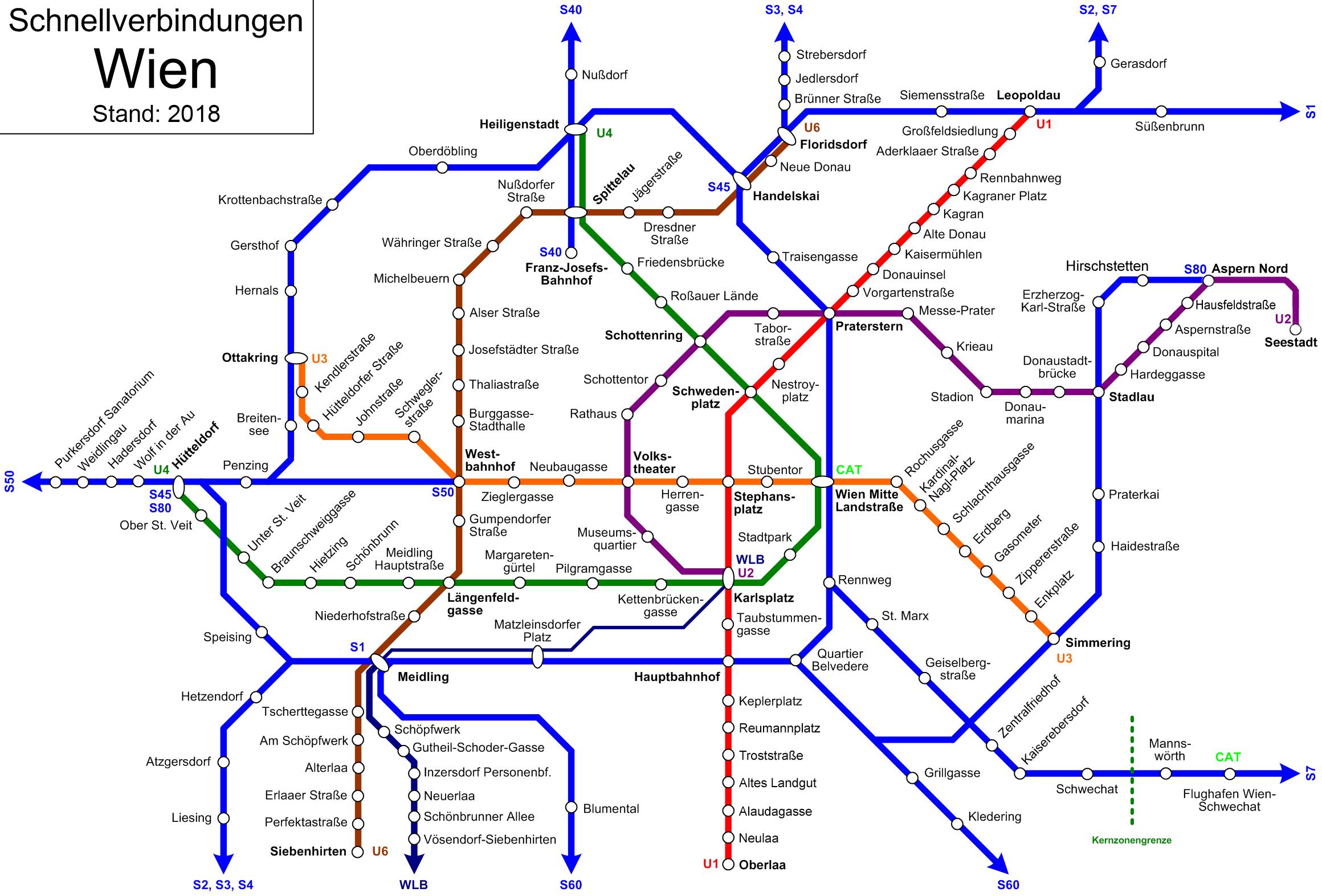 Wien Subway Map.Transportation In Vienna Wikipedia