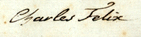Signature of Charles Felix, Duke of Genoa future King of Sardinia.png