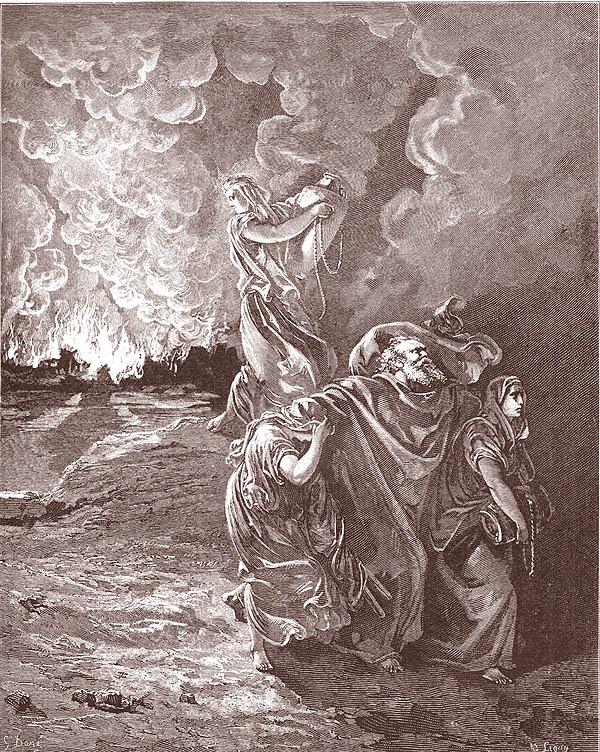 Gustave Doré (1832-1883), La fuga di Lot da Sodoma