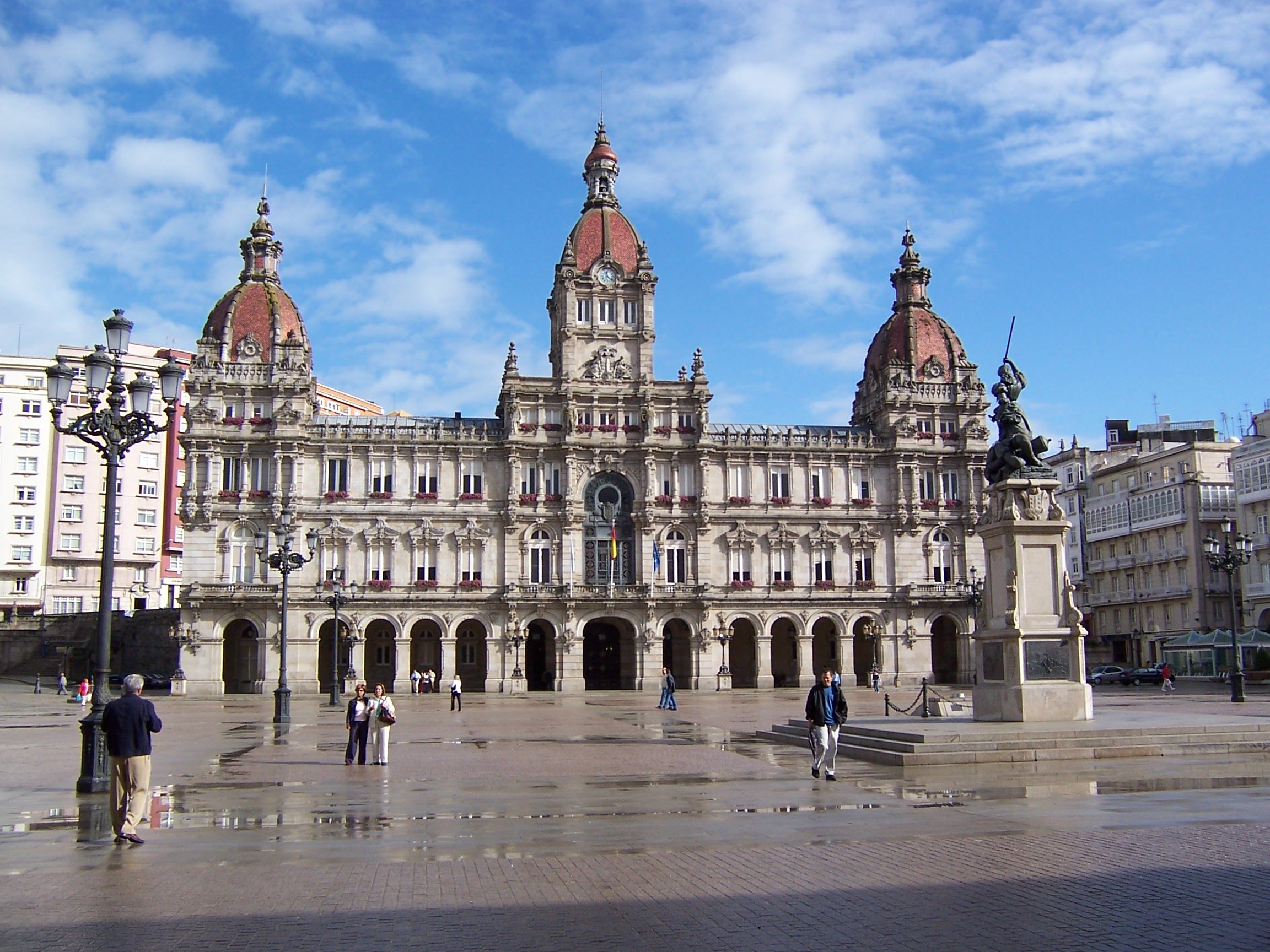 La Coruna Spain  city images : This licensing tag was added to this file as part of the GFDL ...