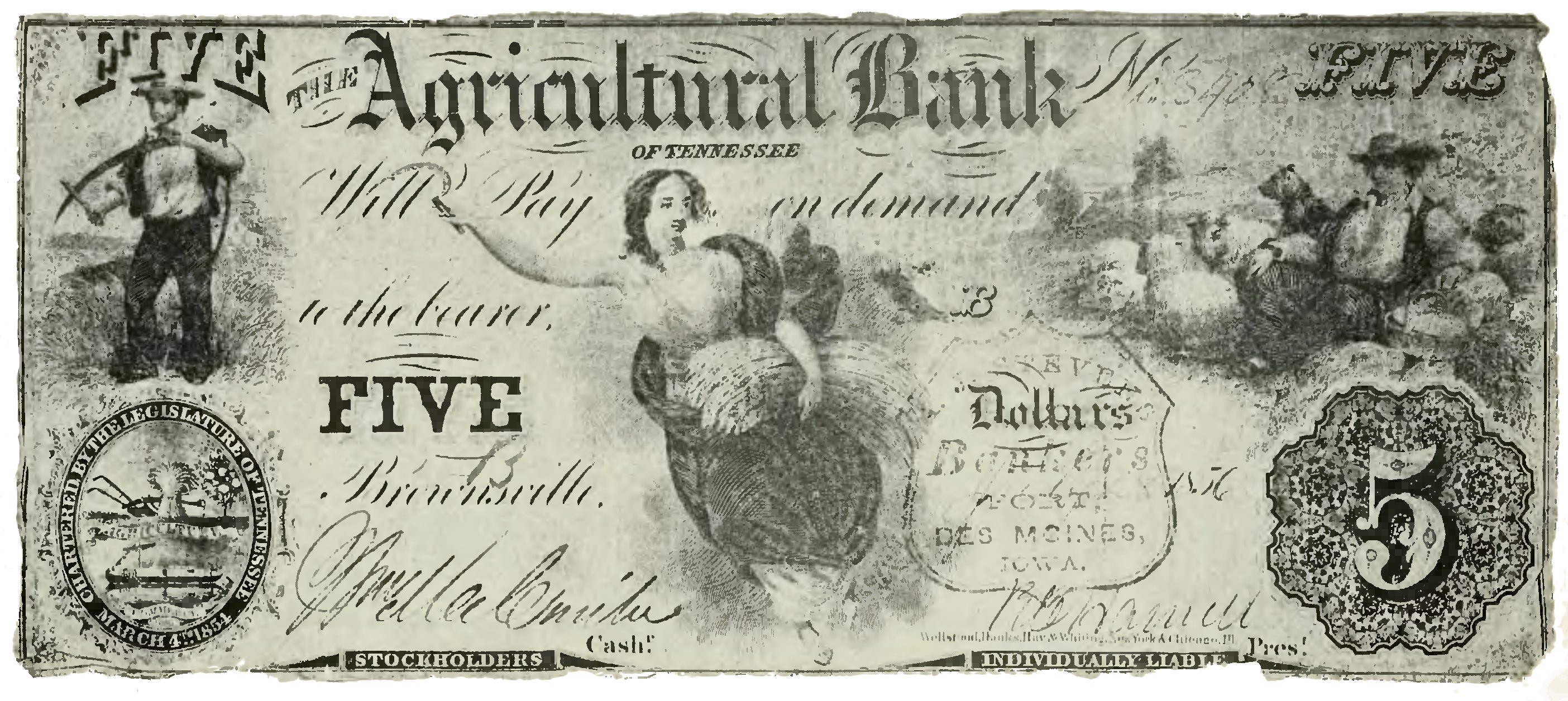 Historical Currency Charts: Specimen of Wildcat Currency - History of Iowa.jpg ,Chart