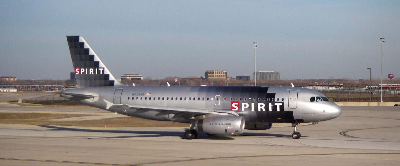 File spirit airlines airbus a319 100 at midway airport for Spirit airlines one way