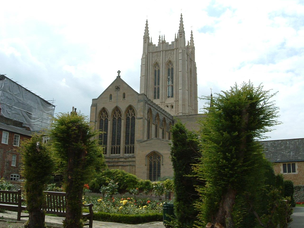 St Edmundsbury Cathedral from Bury Saint Edmunds, United Kingdom