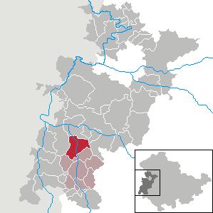 Lage der Stadt Stadtlengsfeld im Wartburgkreis
