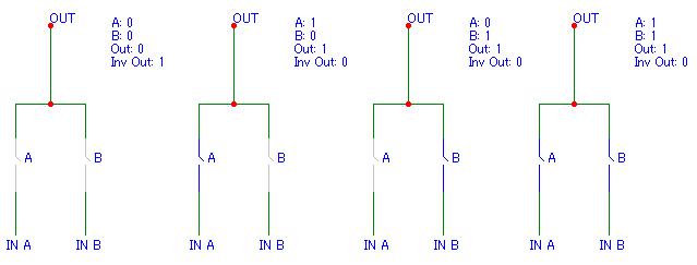 Логическая схема и не на моп транзисторах