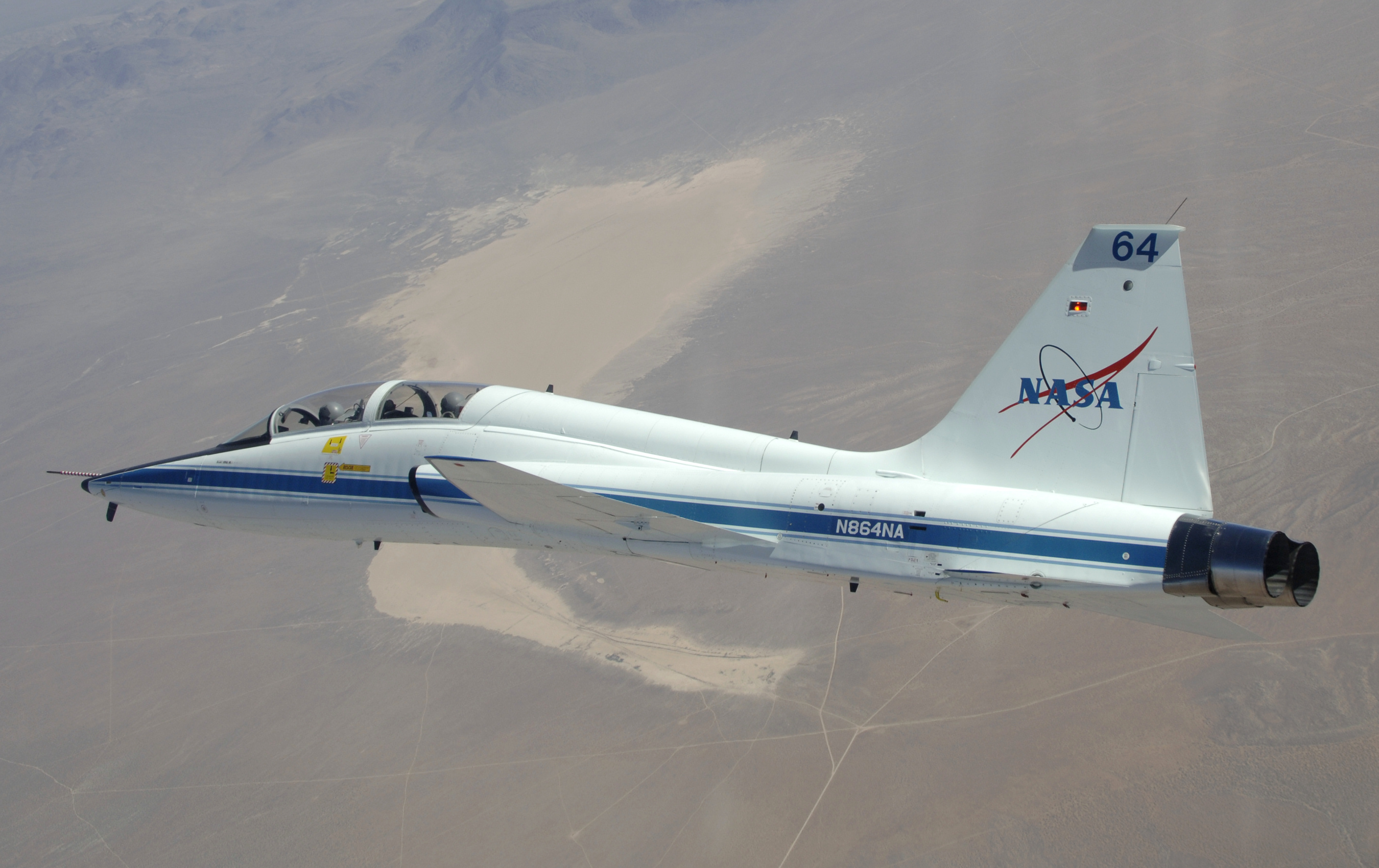 T 38 in flight over Dry Lake