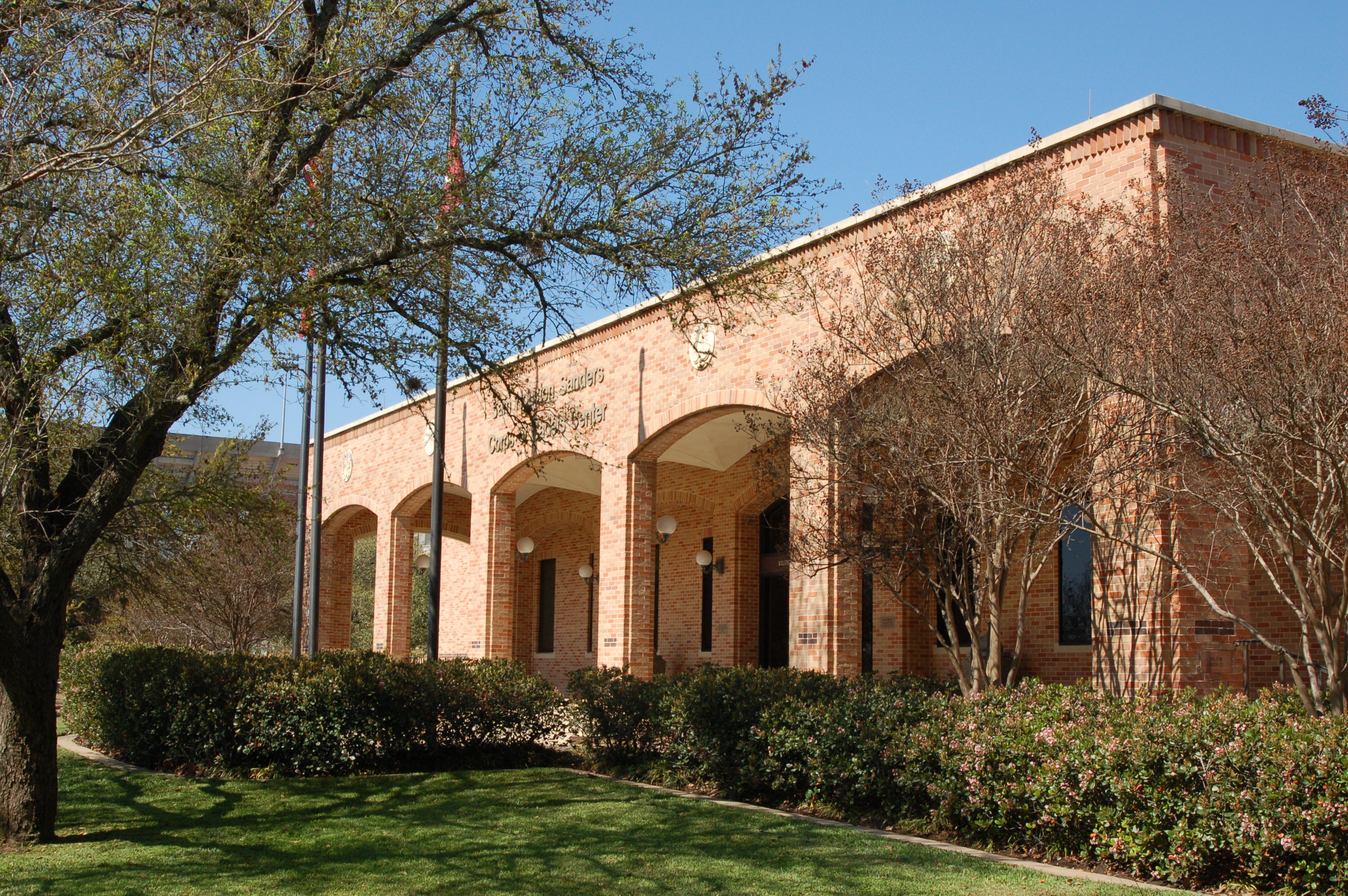 Front of Sam Houston Sanders Corps of Cadets Center