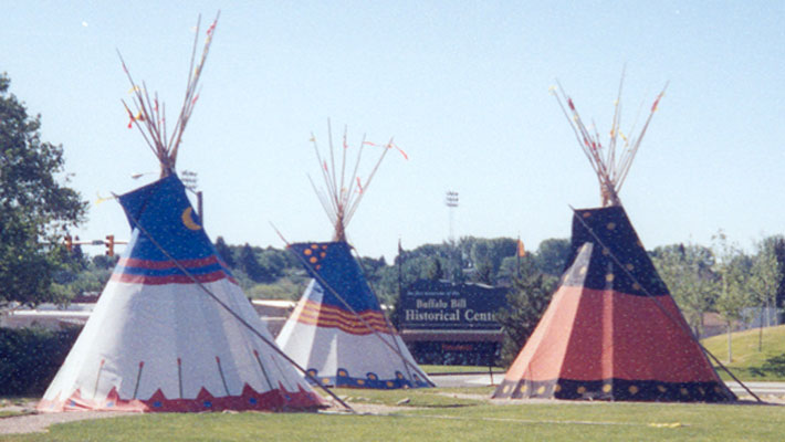 File:Teepees outside cody museum.jpg