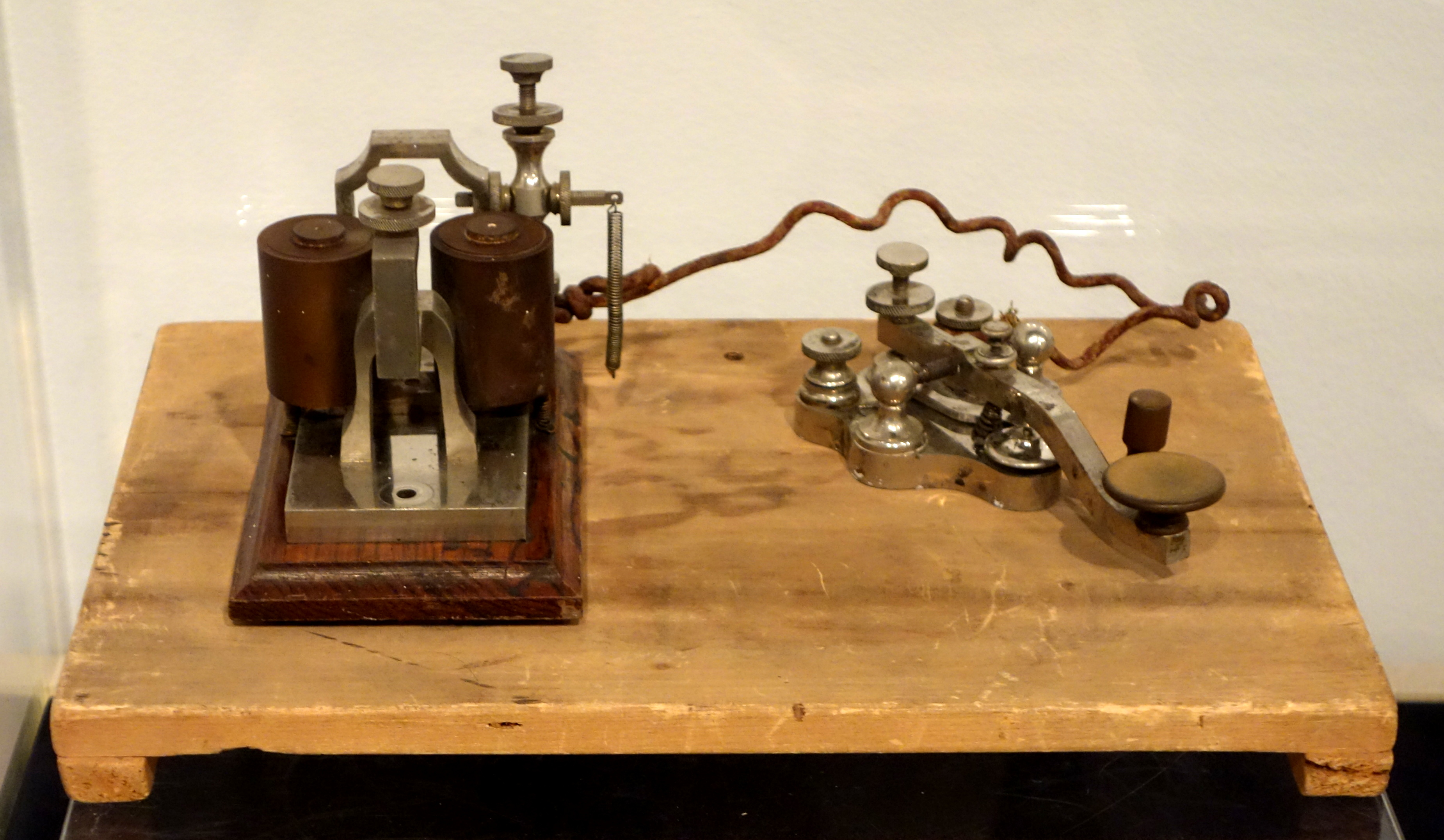 Telegraph key and sounder, 1876