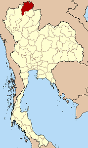 Map of Thailand highlighting Chiang Rai Province}