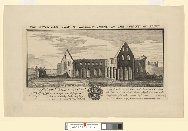 The south east view of Rhuddlan Priory, in the county of Flint