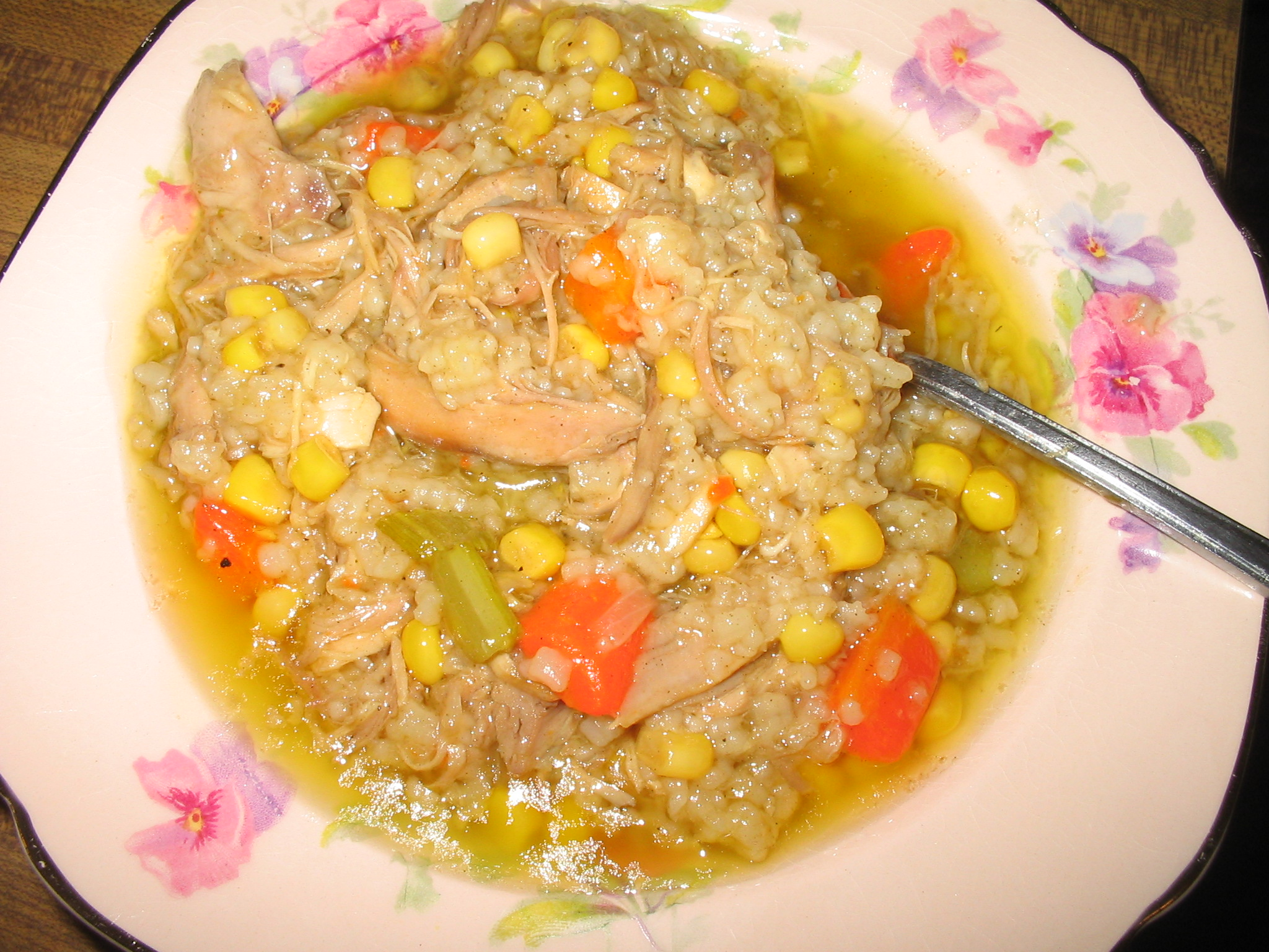 Fileturkey Soup Stew With Rice Jpg Wikimedia Commons
