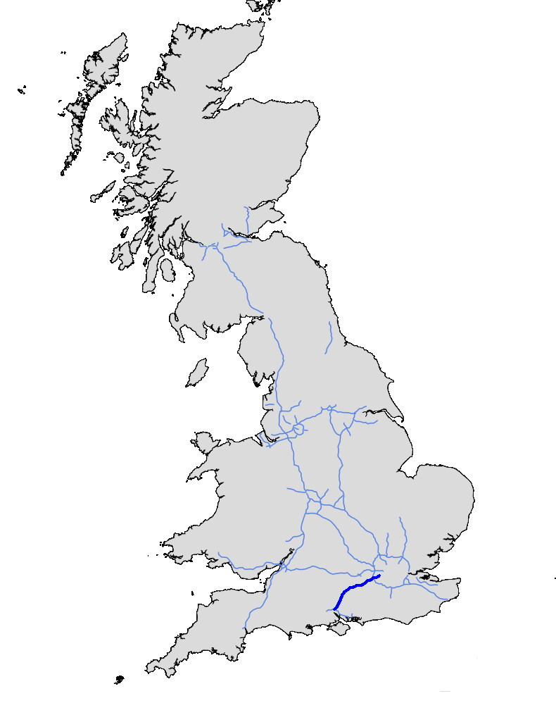 Map Of M3 File:UK motorway map   M3.png   Wikimedia Commons Map Of M3