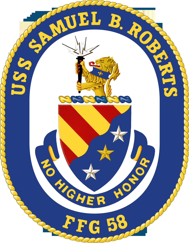 USS SAMUEL B ROBERTS FFG 58 Parking Sign U S Navy USN Military Sign PSNBY