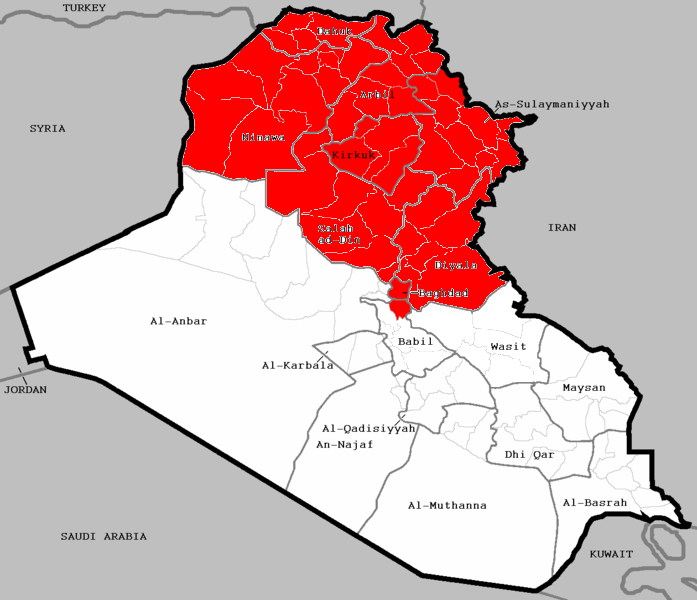 File:US AirStrikes in Iraq Map.png