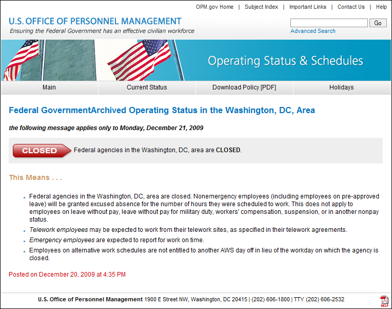 File Us Federal Government Closure December 21 2009 Png