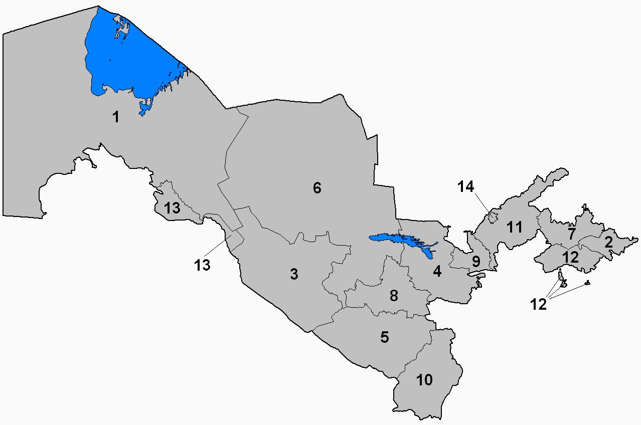 FileUzbekistan Provinces Numberedpng Wikimedia Commons - Uzbekistan map png