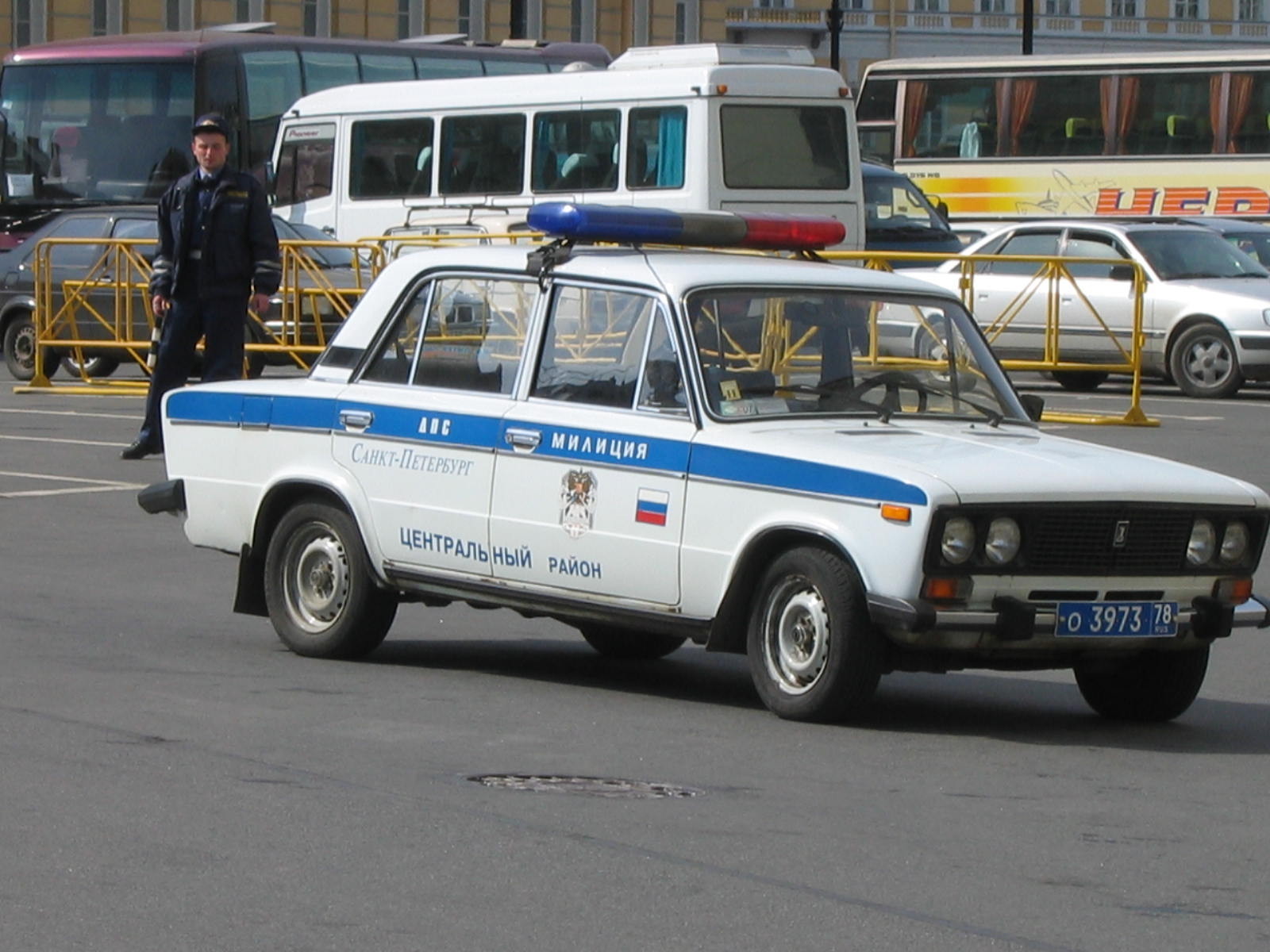 File Vaz 2106 Police Car In Saint Petersburg Russia Jpg