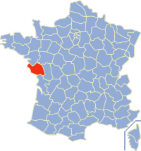 Situation du département de la Sarthe en France.