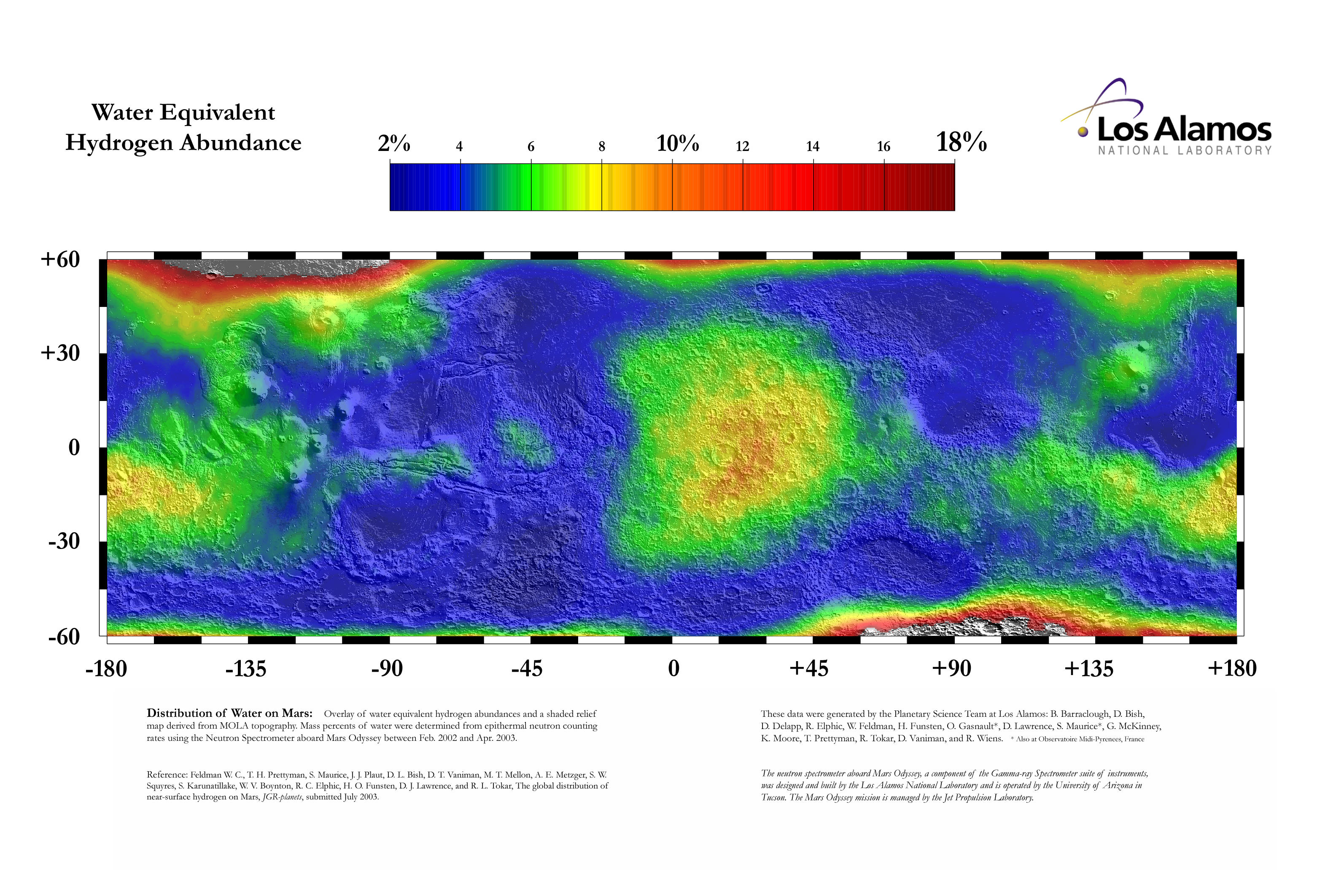 ISRU martienne Water_equivalent_hydrogen_abundance_in_the_lower_latitudes_of_Mars_01