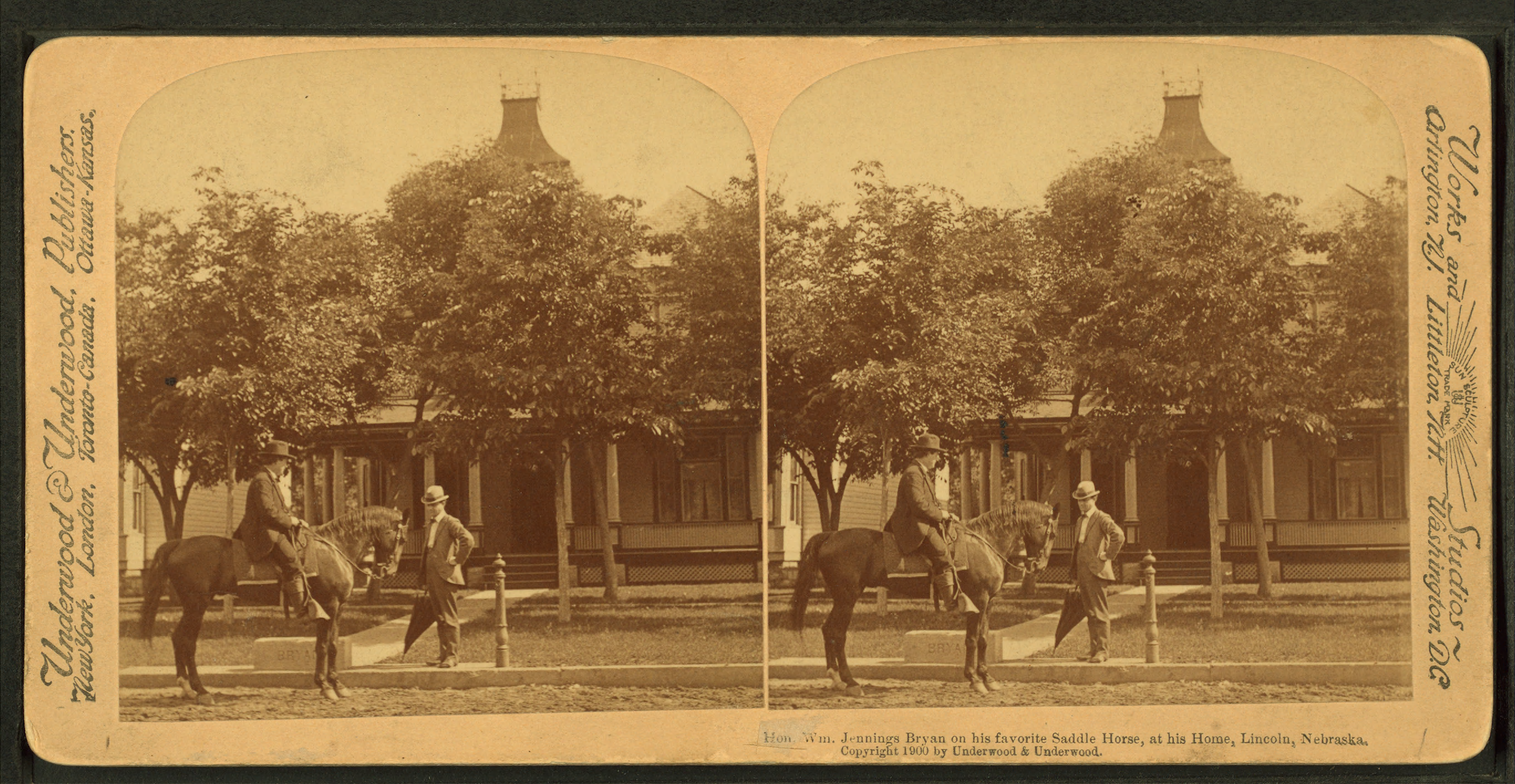 File:William Jennings Bryan on his favorite horse at his