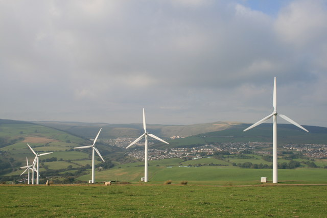 Wind Turbines overlooking Gilfach Goch - geograph.org.uk - 550450