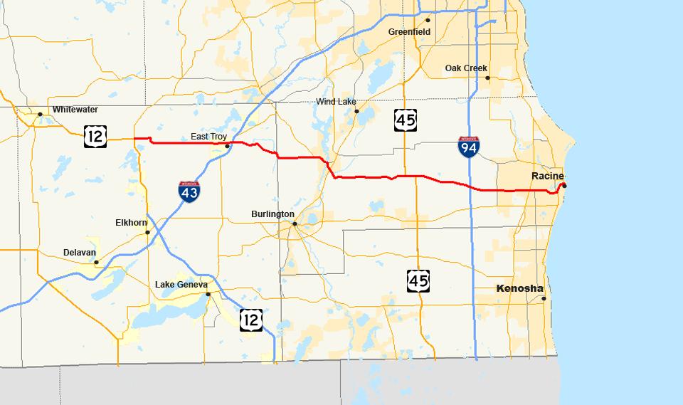 Racine Wisconsin Map.Wisconsin Highway 20 Wikipedia