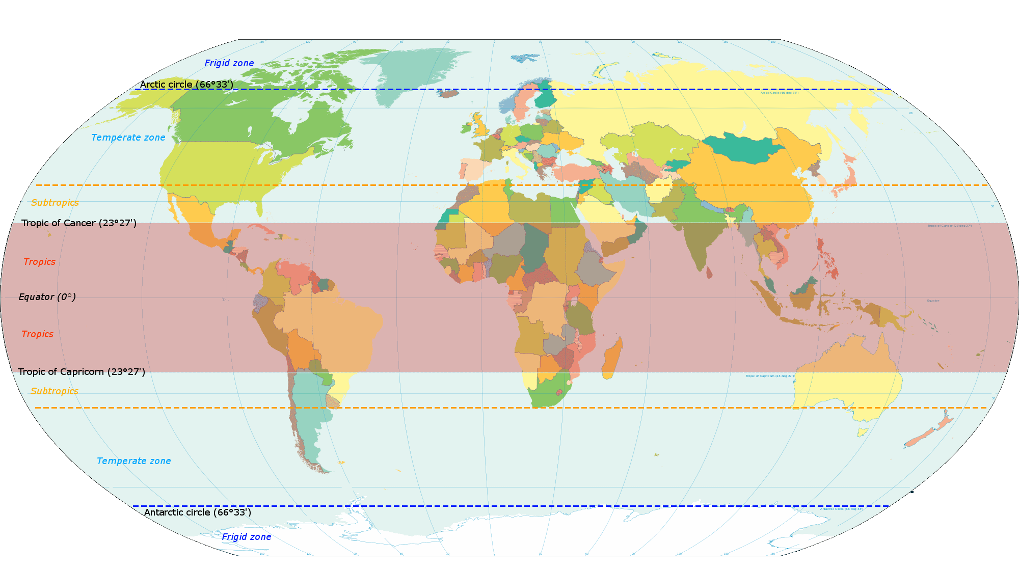 Climate Zone Map Of Asia.Subtropics Wikipedia