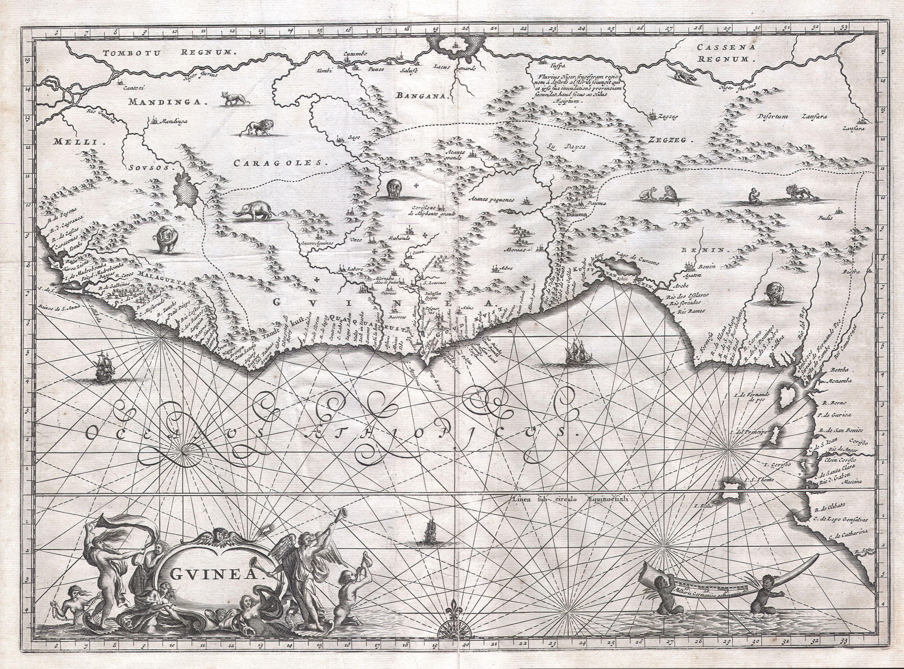 File:1670 Ogilby Map of West Africa ( Gold Coast, Slave Coast