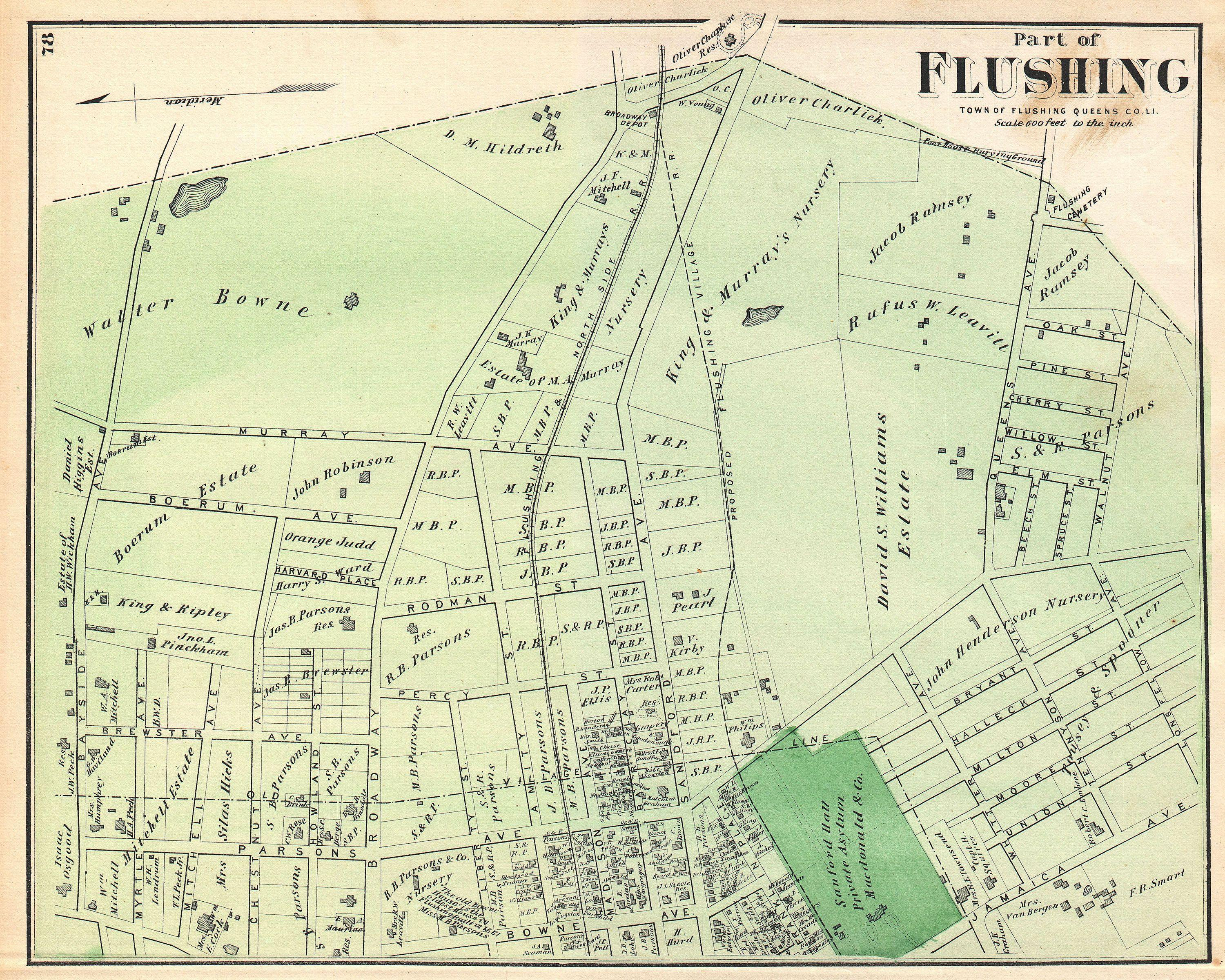 File 1873 Beers Map Of Part Of Flushing Queens New York