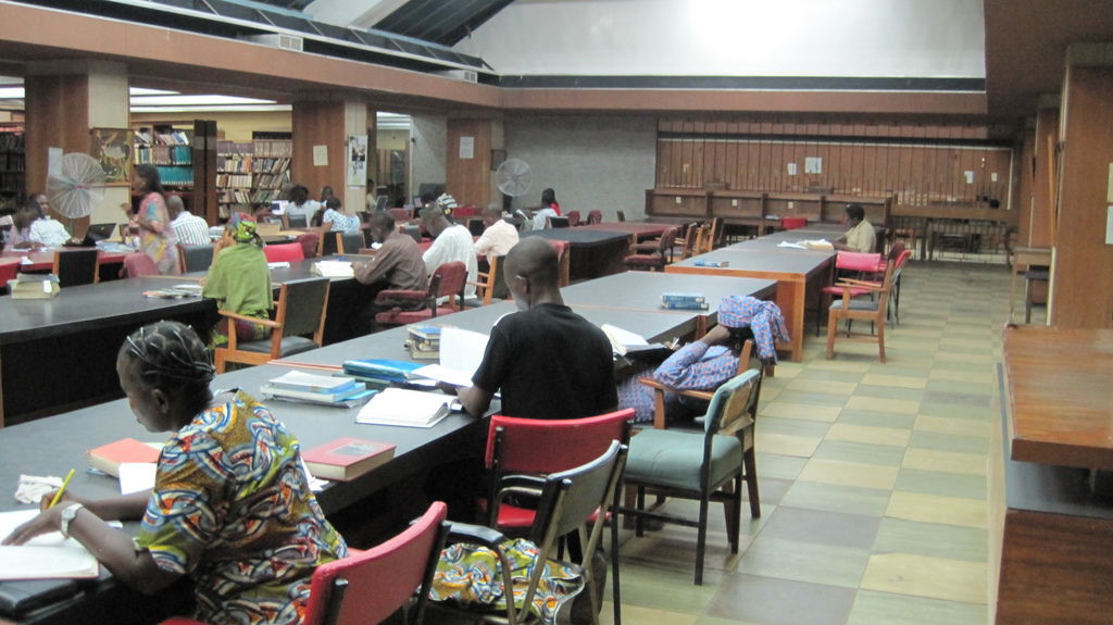 2011 library reading room at University of Ibadan in Oyo Nigeria 5600401644.jpg