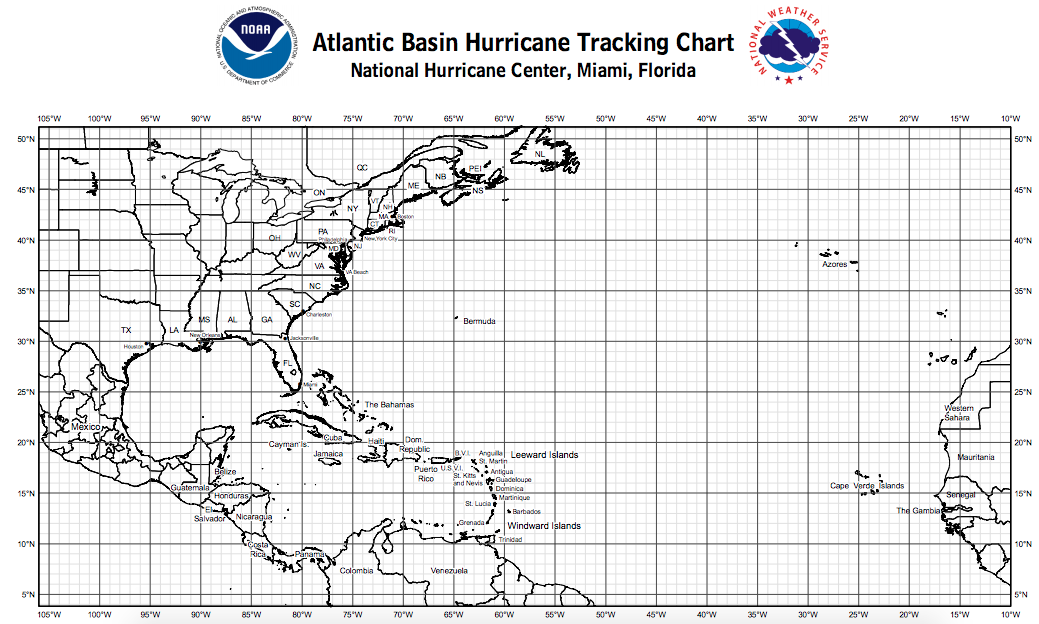 Critical image pertaining to printable hurricane tracking maps